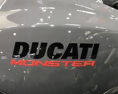 Sticker 'DUCATI' 'Monster' the writing Monster 1200S -Tank MY 2017