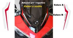 Stickers kit for plexi Ducati Multistrada 1200/950/ENDURO
