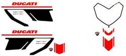 Aufklebersatz corse in Rot/Schwarz Hypermotard 1100 evo sp