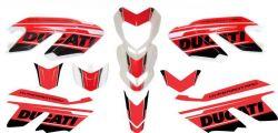 Aufkleber Set Rot/Schwarz für Ducati Hypermotard 796/1100