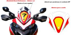 Stickers for windshield Ducati Multistrada 950/1200/1260/ENDURO