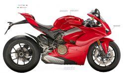 Aufkleber - Set für Ducati Panigale V4