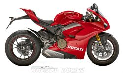 sticker Ducati large on lower fairing Panigale V4