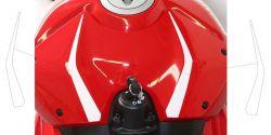 Aufkleber Decorset für Tankabdeckung vorne ohne Einbuchtung mit Gilter - Ducati Panigale V4 / V4S / V4R