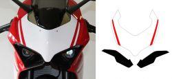 Aufkleber Startnummernfeld Front weiß inkl. Aufkleber kit Verkleidung Licht für Ducati Panigale V4