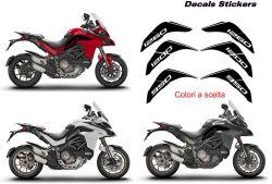 Aufkleber auf der Verkleidung Ducati Multistrada 1260-1200-950 DVT