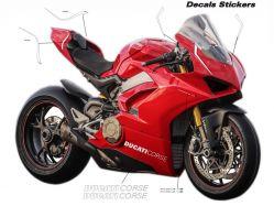 Aufkleber - Set Streifen für Ducati Panigale V4-Design V4R