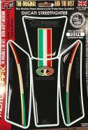 Tankpad Protector Motografix 3D Gel Schwarz/Tricolore/Gold Ducati Streetfighter 2009
