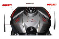Stickers set special silver-black - cover tank - Ducati Panigale V4-S