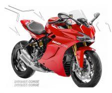 Aufkleber - Set Streifen für Ducati Supersport 939