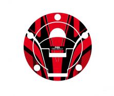 Radikal Fuel Cap Covers in red/black