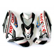 Complete stickers' kit Xerox graphics - Ducati Hypermotard 796/1100