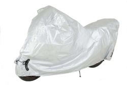 Motorcycle Cover in silver Size XL-XXL to protect motorcycles of between 600 cc and 1000 cc.