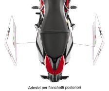 Rear sidefairings' stickers Ducati Hypemotard 950 SP - Ducati Hypermotard 950