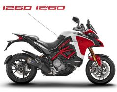 Decals Stickers 1260 in red for side panels - Ducati Multistrada 1260 Pikes Peak