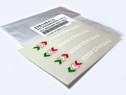 Decal Sticker-Set marchesini white. Original Ducati Sticker