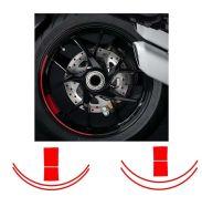 Aufkleber Felgenrand Ducati Satz Streifen für universal