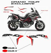 Customized Grand Tour Design stickers' kit - Ducati Multistrada 1260 S