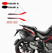 Side panniers stickers Grand Tour Design - Ducati Multistrada 950 / 1260 / 1200 from 2015