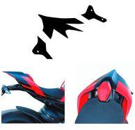 Aufkleber - Set Streifen für Sitzhöcker-Abdeckung SUPERLEGGERA design - Ducati Panigale V4R / V4 2020