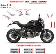 Stickers kit 821 Stealth Design - Ducati Monster 821 / 1200 / 1200S
