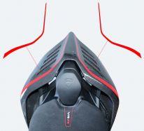 Aufkleber - Set Streifen für rechts&links Sitzhöcker-Abdeckung Ducati Panigale V4 / V2 / Streetfighter V4