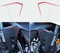 Aufkleber - Set Streifen für Kotflügel vorne- Ducati Panigale V4 / V2 2020 / Streetfighter V4