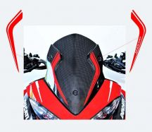Aufkleber Carbon Windschutz für Ducati Multistrada ENDURO 1200 / 1260