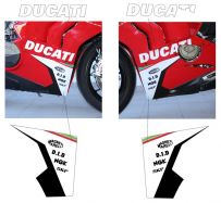 Aufkleber DUCATI der Schriftzüge und Aufkleber Sponsor auf der Verkleidung - Ducati Panigale V4 / V4R / V4S from 2018