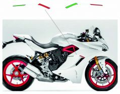 Resin italian flags for side panels 3D - Ducati Supersport 939