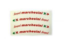 Aufkleber Marchesini Forged Rot mit italienischer Flagge (Satz 4 Stk.)