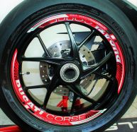 Aufkleber Felgenrand Ducati corse für 2 Felgen