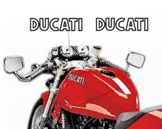 Aufkleber DUCATI Tank Sportclassic innen weiß, außen schwarz