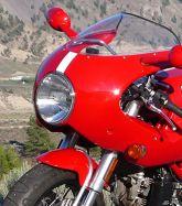 Aufkleber Weiß/Schwarz Streifen für Verkleidung vorne Ducati Sport 1000S/07