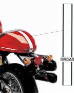 Aufkleber Weiß/Schwarz Streifen für Sitzbank Ducati Sport 1000S/07