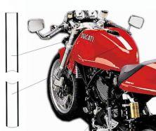 Aufkleber Weiß/Schwarz Streifen für Tank Ducati Sport 1000S/07