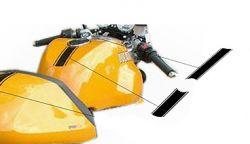 Aufkleber Schwarz Streifen für Tank Ducati Sportclassic 1000/2006