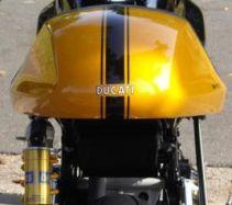 Aufkleber Schwarz Streifen für Sitzbank Ducati Sportclassic 1000/2006