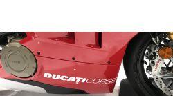 Aufkleber Ducati Corse auf der Verkleidung 327x33mm Paarpreis