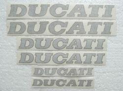 Aufkleber Ducati silber/gold Stückpreis