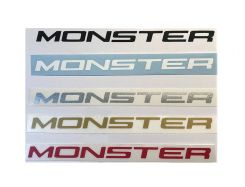 Decal Sticker MONSTER 140x8mm price for 1 Pcs