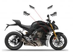 Aufkleber Streifen Set in graphit für Winglets - Ducati Streetfighter V4 / V4S