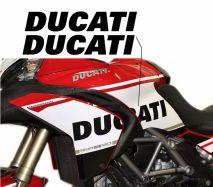 Aufkleber Ducati Schriftzug auf der Verkleidung Paar für Ducati Multistrada