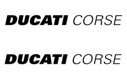 Stickers Ducati Corse 355x35mm set of two