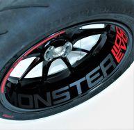 Aufkleber Felgenbett für Ducati Monster 1100 EVO