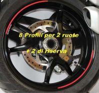 Aufkleber Felgenrand Satz Streifen für Ducati