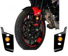 Aufkleber für Kotflügel vorne Ducati Multistrada V4 / V4S schwarz/silber/weiß