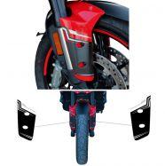 Aufkleber für Kotflügel vorne Ducati Multistrada V4 / V4S schwarz/silber/silber