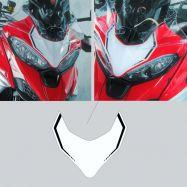 Aufkleber Startnummernfeld vorne in weiß mit Streifen Ducati Multistrada V4