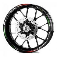 Aufkleber Felgenrand Ducati corse tricolore
